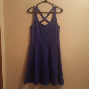 H&M Crossed Back Blue Dress